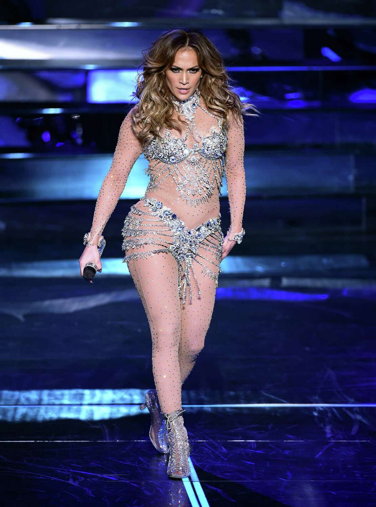 Jennifer Lopez performs during the debut of her residency show JENNIFER LOPEZ: ALL I HAVE at Planet Hollywood Resort & Casino on January 20, 2016 in Las Vegas, Nevada.