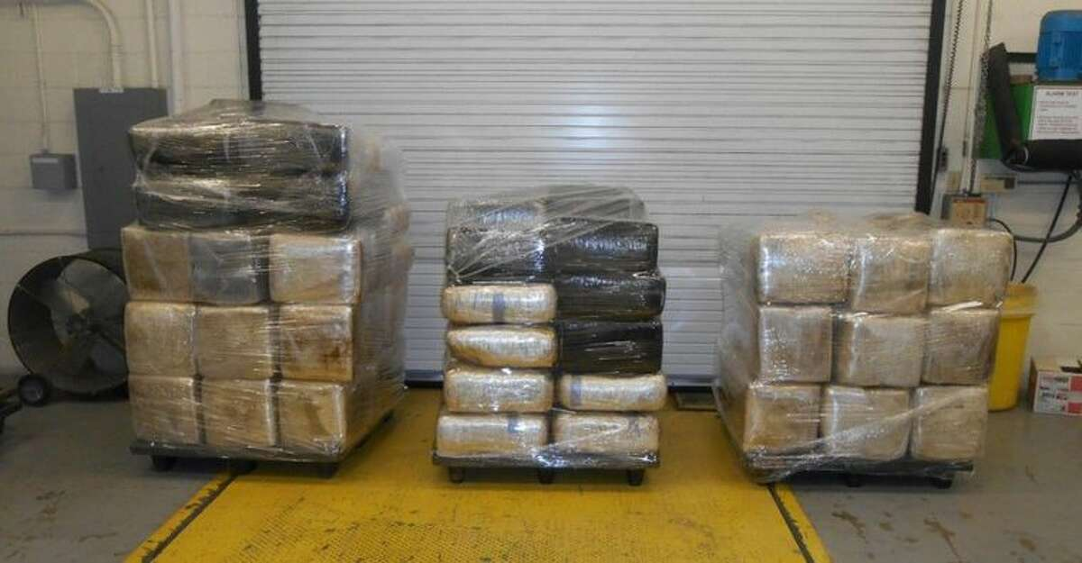 Packaged bundles containing 2,211 pounds of marijuana were seized Jan. 13, 2016 by Customs and Border Protection agents working the World Trade Bridge between Laredo, Texas and Nuevo Laredo, Tamaulipas.