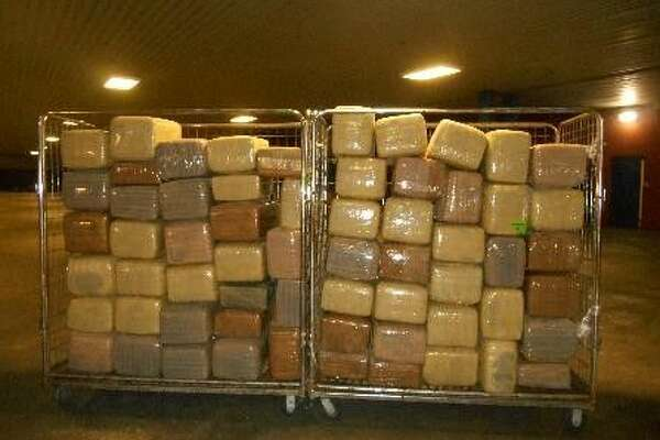Packaged bundles containing 1,496 pounds of marijuana were seized Jan. 13, 2016 by Customs and Border Protection agents working the World Trade Bridge between Laredo, Texas and Nuevo Laredo, Tamaulipas.