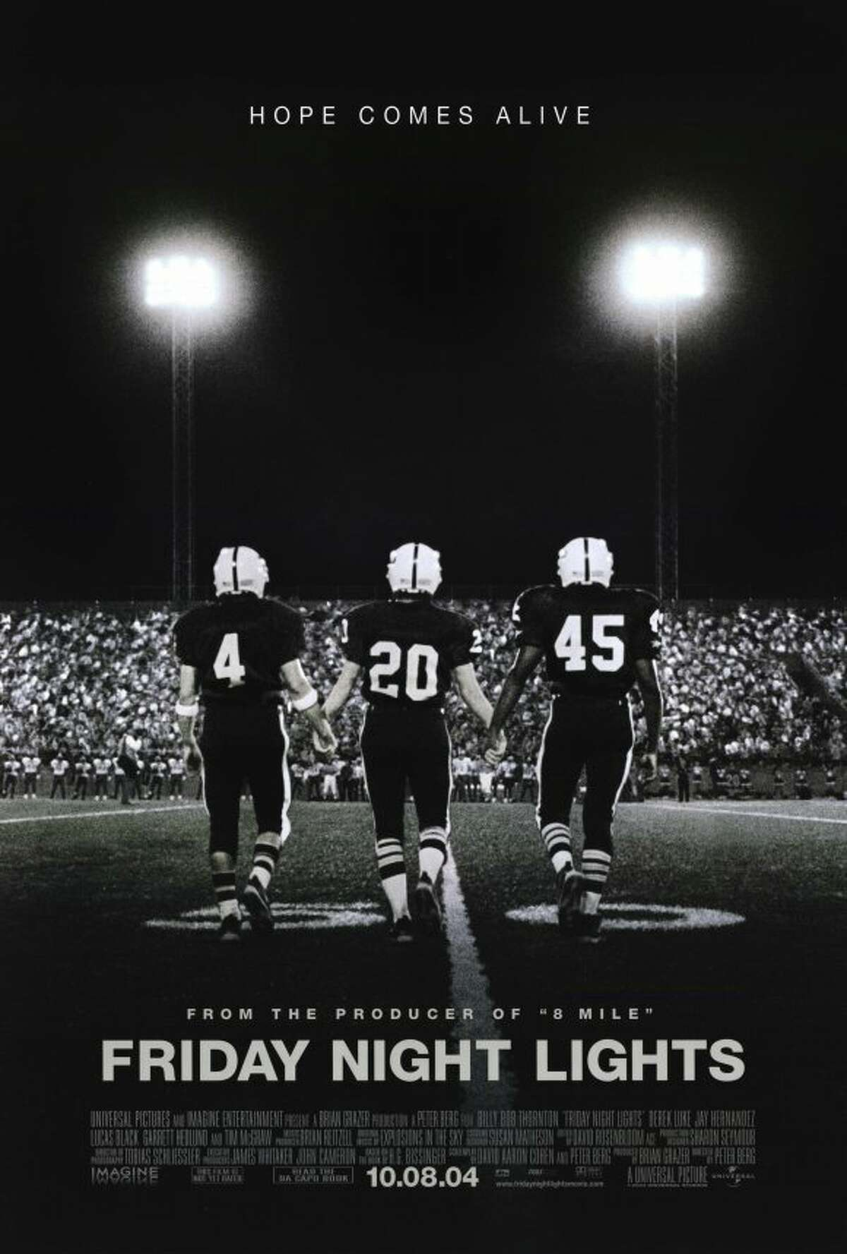 Friday Night Lights: Based on Buzz Bissinger's book about small-town Texas' love for football, the movie follows one team for an entire season. Texas has a deep passion for football and the film lovingly portrays all the pros and cons of that obsession. We, as a nation, love this story and these characters so much, a movie-based on the book wasn't enough and a TV series followed.