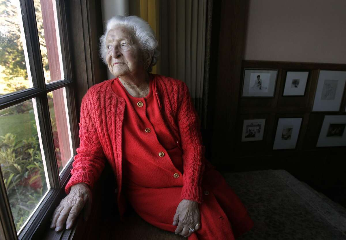 Sylvia McLaughlin at her home in Berkeley home in 2011.