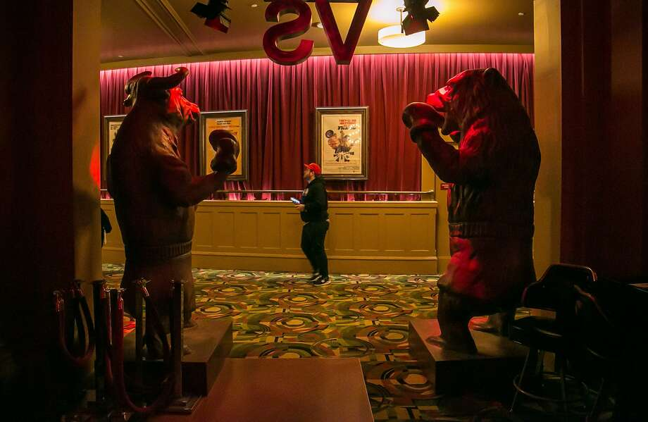 The entrance to the Bear Vs. Bull bar inside the Alamo Drafthouse in S.F. Photo: John Storey, Special To The Chronicle