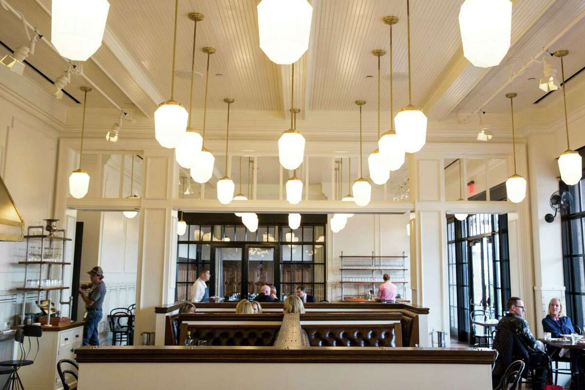 Design elements of Supper combine classic American styling with the feeling of a French cafe.