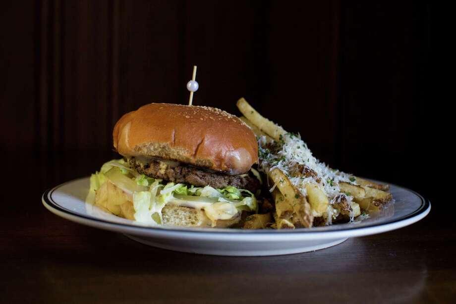 The burger Photo: Carolyn Van Houten /San Antonio Express-News / 2016 San Antonio Express-News