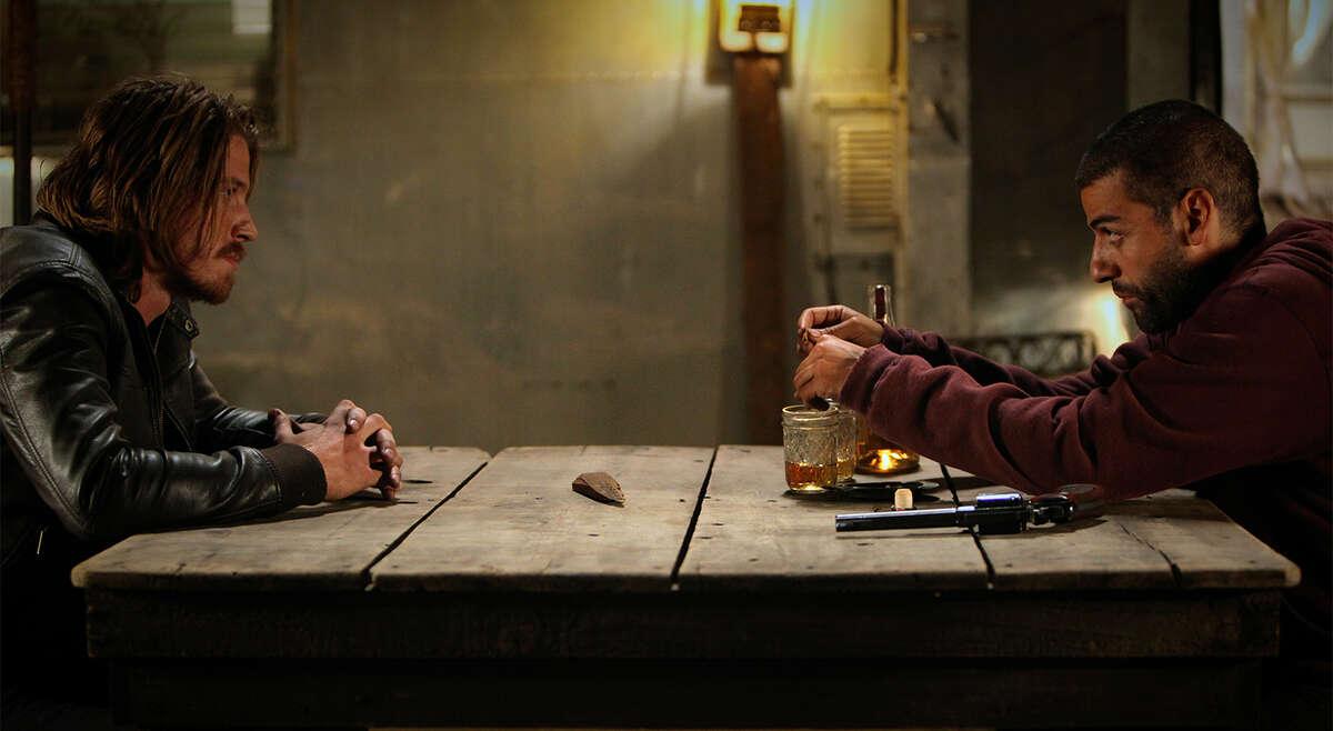 """Garrett Hedlund, left, and Oscar Isaac star in """"Mojave."""""""