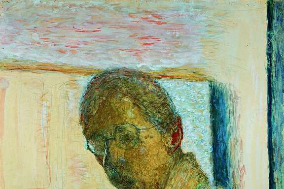 """Pierre Bonnard's """"Self portrait"""" (1930), pencil and transparent and opaque watercolor on paper. 60 x 50 cm. On view at the Legion of Honor in """"Pierre Bonnard: Painting Arcadia,"""" Feb. 6-May 15."""