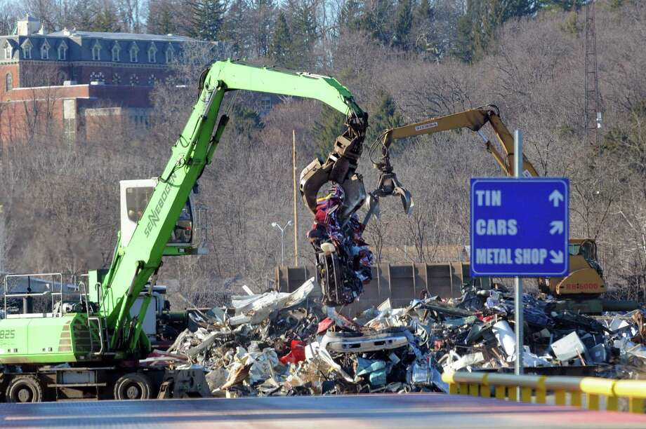 Scrap metal being sorted at the Ben Weitsman Scrap Yard on Thursday Jan. 21, 2016 in Albany, N.Y. (Michael P. Farrell/Times Union) Photo: Michael P. Farrell / 10035092A