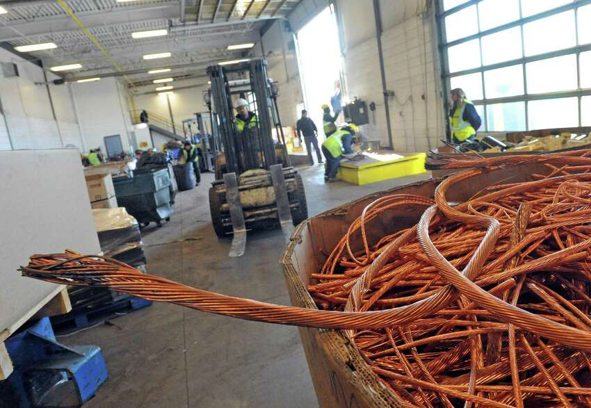 Scrap being sorted at the Ben Weitsman Scrap Yard on Thursday Jan. 21, 2016 in Albany, N.Y. (Michael P. Farrell/Times Union)