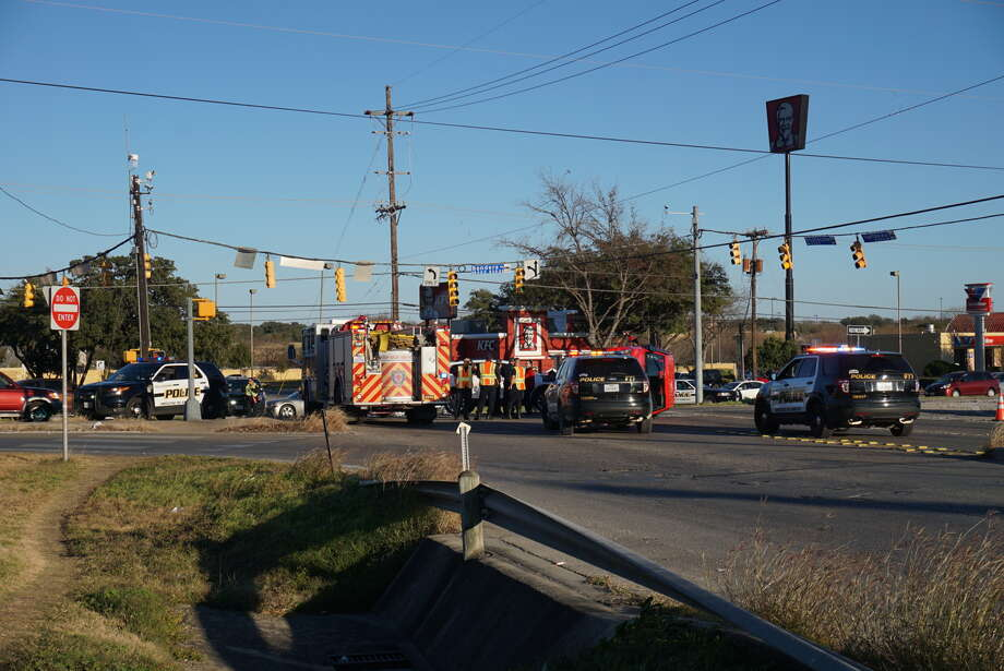 An accident at  Guilbeau and Bandera roads about 4 p.m. Thursday Jan. 21, sent one to the hospital. Photo: Jacob Beltran