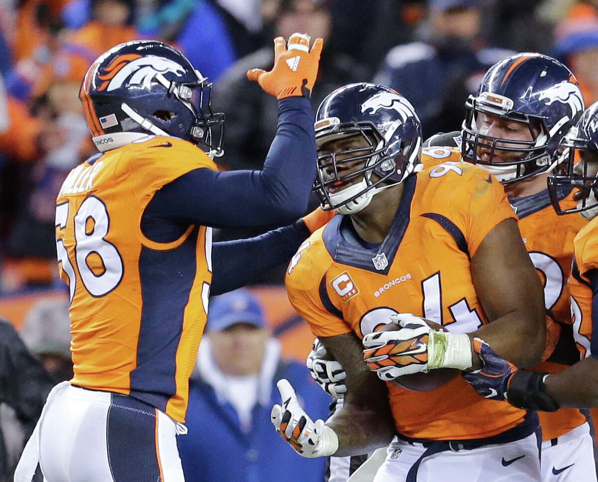 WHAT TO WATCH: How Denver's defenseplays against Newton Counting playoff victories over Seattle and Arizona, Newton has accounted for 50 touchdowns this season. He's going against the NFL's No. 1-ranked defense that allowed 283.1 yards, including 83.6 rushing (third) and 199.6 passing (first). The Broncos gave up 18.5 points a game, and the Panthers led the league in scoring with 31.3 points. Denver's defense has speed in the front seven and in the secondary. Newton is big, strong and fast. Not only has he become a great passer, but he's a smart runner who excels on designed plays. Broncos defensive coordinator Wade Phillips needs a plan that causes Newton to hesitate just long enough for outside rushers Von Miller (58) and DeMarcus Ware (94) to apply sufficient pressure to disrupt the passing game. They have to be disciplined in their outside pass rush as well as inside gap control to keep Newton from running for a lot of yards.