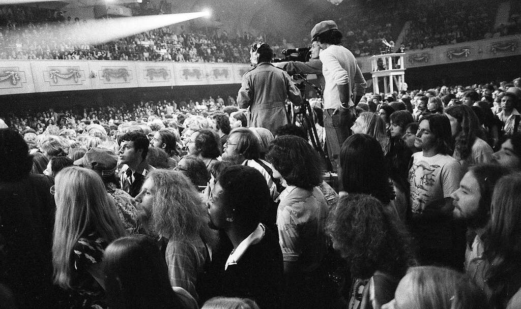 Members of Martin Scorsese's film crew at the Last Waltz show. Photo: Gary Fong, The Chronicle