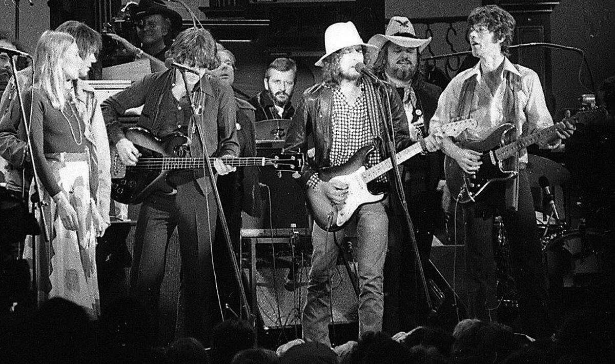 The Last Waltz concert at Winterland November 25, 1976, was filmed by Martin Scorcese The Band and many guest musicians performed, including Neil Young, Bob Dylan, Van Morrison Eric Clapton Ron Wood, Ringo Starr, Dr. John and Joni Mitchell