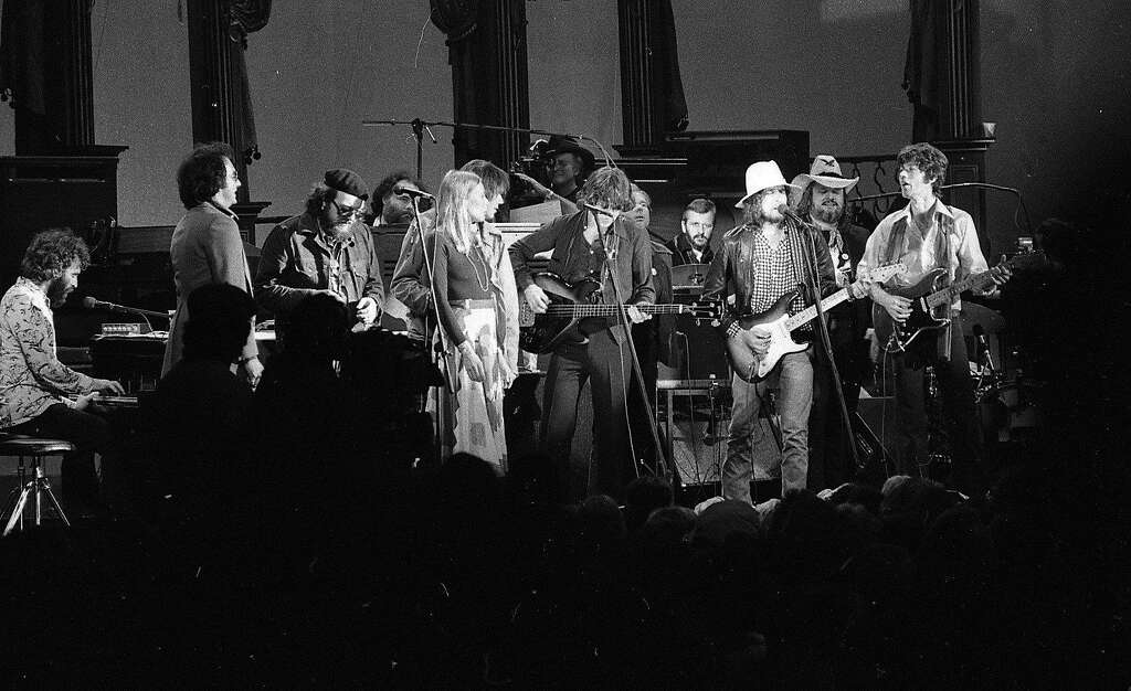 The Last Waltz concert at Winterland November 25, 1976, was filmed by Martin Scorcese  The Band and many guest musicians performed, including Neil Young, Muddy Waters, Bob Dylan, Van Morrison Eric Clapton Ron Wood, Ringo Starr, Dr. John  and Joni Mitchell Photo: Gary Fong, The Chronicle