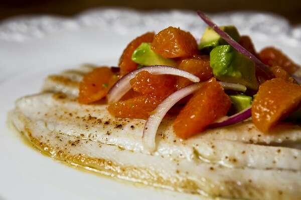 Avocado bulks up a citrus salsa to top mild sole