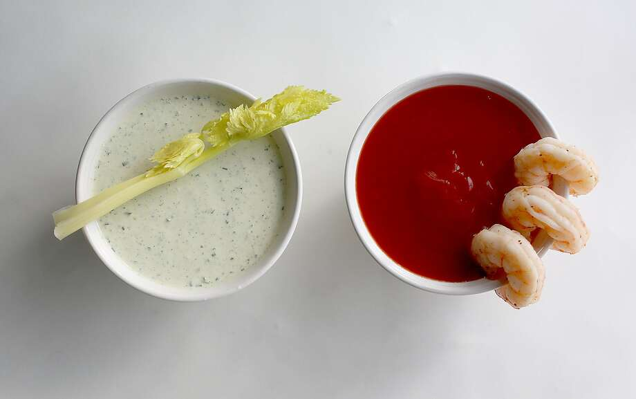 These Bay Area classics make perfect Super Bowl dips, from left: Green Goddess Dip and Swan Oyster Depot's Cocktail Sauce. Photo: Liz Hafalia, The Chronicle