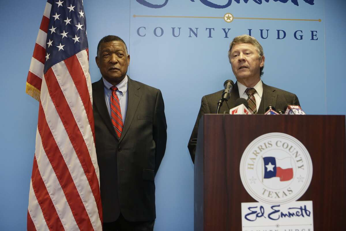 Harris County Judge Ed Emmett on Friday named Gene Locke, a former city attorney and mayoral candidate, to complete El Franco Lee's term on Commissioners Court.