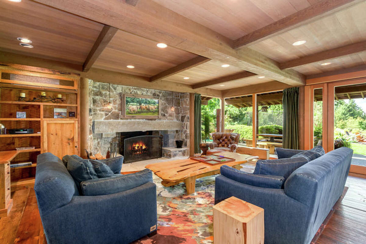 Architect Hal Moldstad designed and lived in the home. This is the family room.