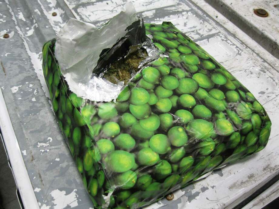 Texas border agents discovered more than 2,500 pounds of marijuana in packages wrapped in paper printed with images of limes at the Pharr International Bridge on Jan. 15, 2016. Photo: CBP/courtesy