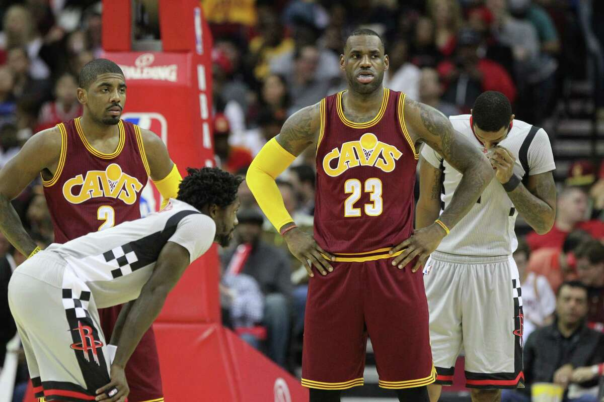 Cleveland Cavaliers forward LeBron James (23) during the first quarter against the Houston Rockets at the Toyota Center Friday, Jan. 15, 2016, in Houston. ( Gary Coronado / Houston Chronicle )