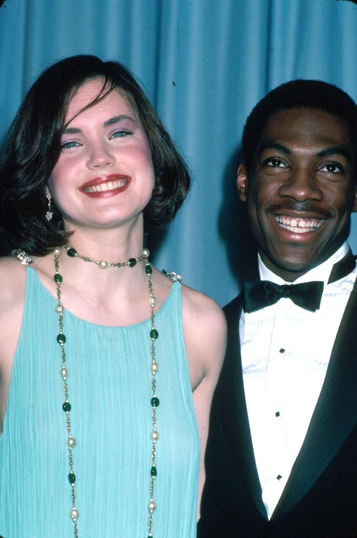 Actors Elizabeth McGovern and Eddie Murphy in 1983.