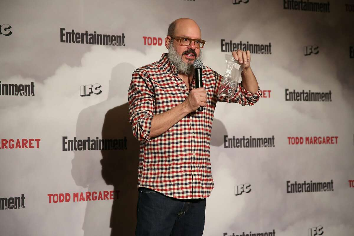 Comedian and actor David Cross speaks on stage during an Evening Of Pub Quiz Trivia hosted by Entertainment Weekly & IFC at The Django at the Roxy Hotel on January 6, 2016 in New York City.