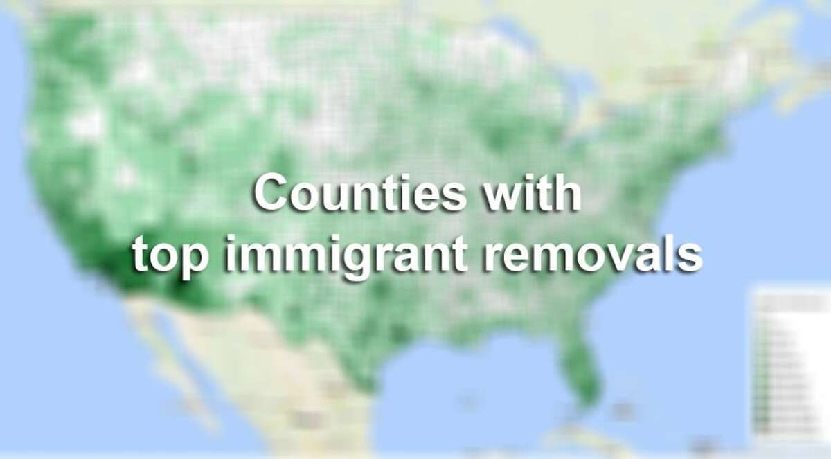 The Center for Immigration Studies put together a map to show immigrant removals from late 2008 to early 2015. In all just over 400,000 people were deported in the U.S. with Harris County, Texas ranking third.Click through the slideshow to see the top three counties in the country, followed by the top deportation counties in Texas.