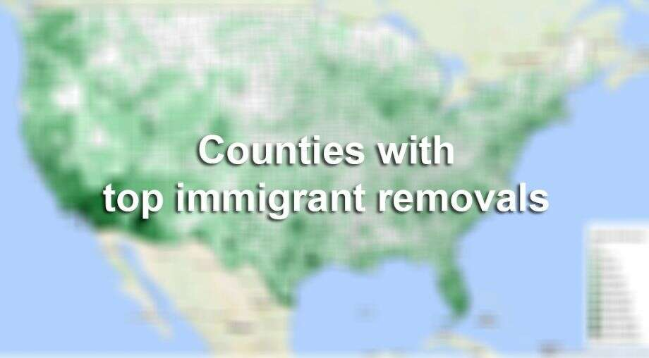 The Center for Immigration Studies put together a map to show immigrant removals from late 2008 to early 2015. In all just over 400,000 people were deported in the U.S. with Harris County, Texas ranking third.Click through the slideshow to see the top three counties in the country, followed by the top deportation counties in Texas. Photo: Center For Immigration Studies