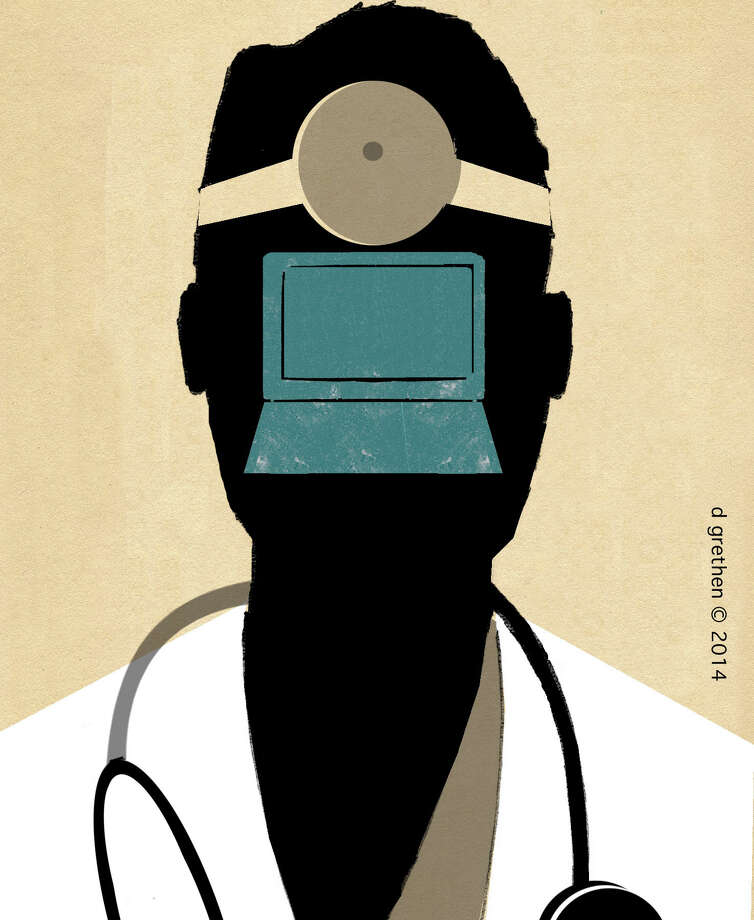 This artwork by Donna Grethen refers to the privacy of medical records. Photo: Donna Grethen