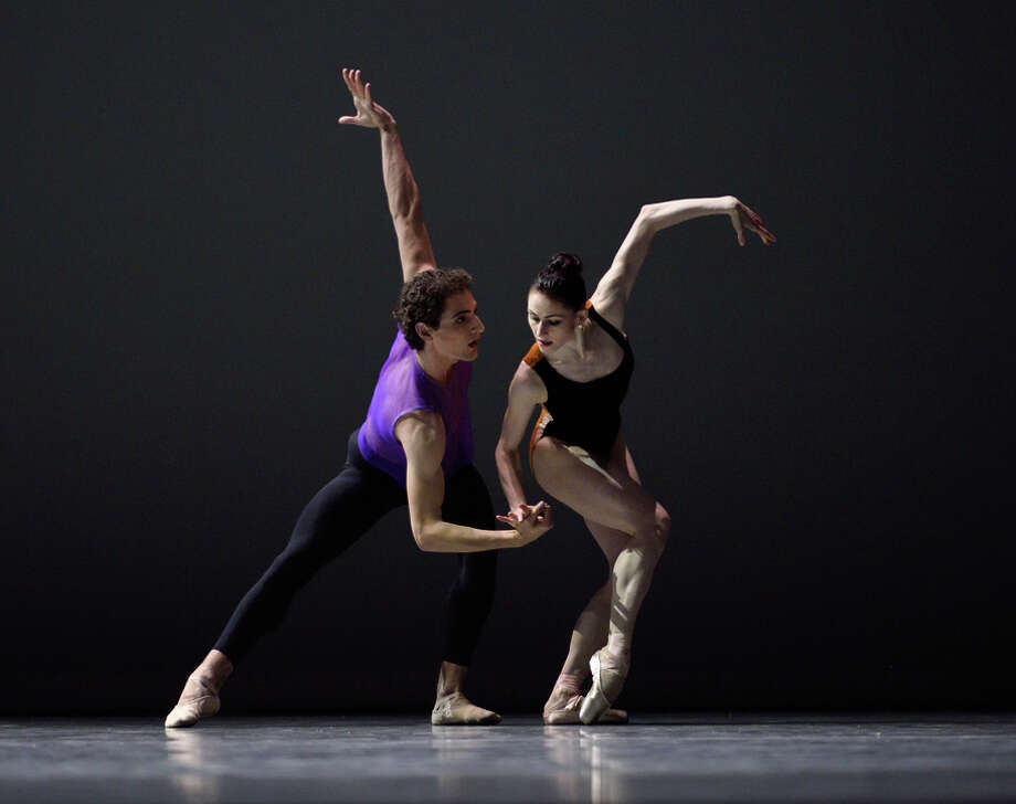 """Carlo Di Lanno (left) and Sofiane Sylve perform an excerpt from William Forsythe's """"Pas/Parts."""" Photo: Erik Tomasson / Erik Tomasson / © Erik Tomasson"""