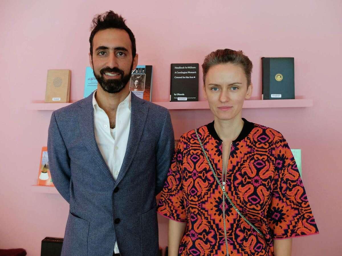 Payam Sharifi, left, and Kasia Korczak are the founders of the art collective Slavs and Tatars.