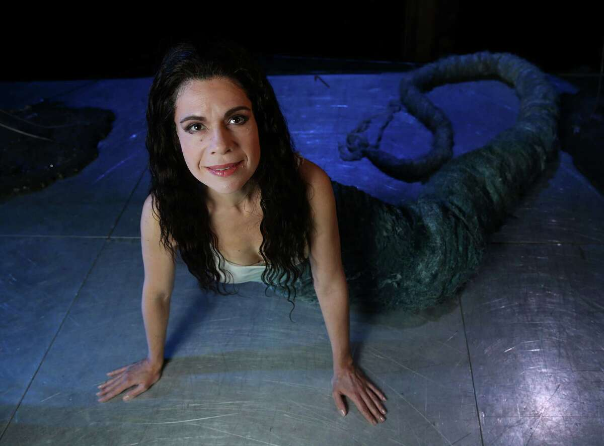 """Houston Grand Opera's rare staging of Dvorak's enchanting fairy tale opera """"RUSALKA,"""" features star soprano Ana Maria Martinez as the water nymph title character - the opera is a Czech variant on the Little Mermaid legend. This production was created by England's Glyndebourne Festival Opera to showcase her and she's reprising the role here. Photographed on Tuesday, Jan. 19, 2016, in Houston. ( Elizabeth Conley / Houston Chronicle )"""