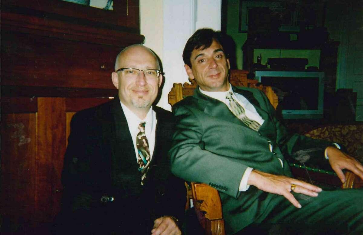 Plaintiff Robert Pritchard, left, and his last husband, Thomas Conwell