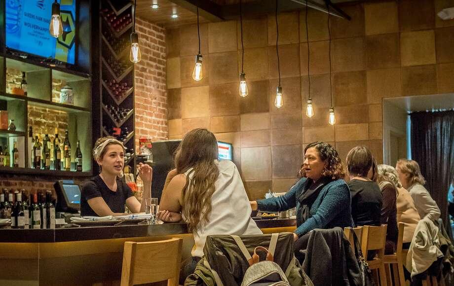 At the bar at La Marcha in Berkeley. Photo: John Storey