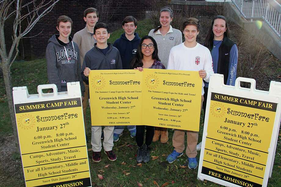 Greenwich High School ninth-grade volunteers have helped to publicize the SummerFare Camp Expo. Photo: Contributed Photo