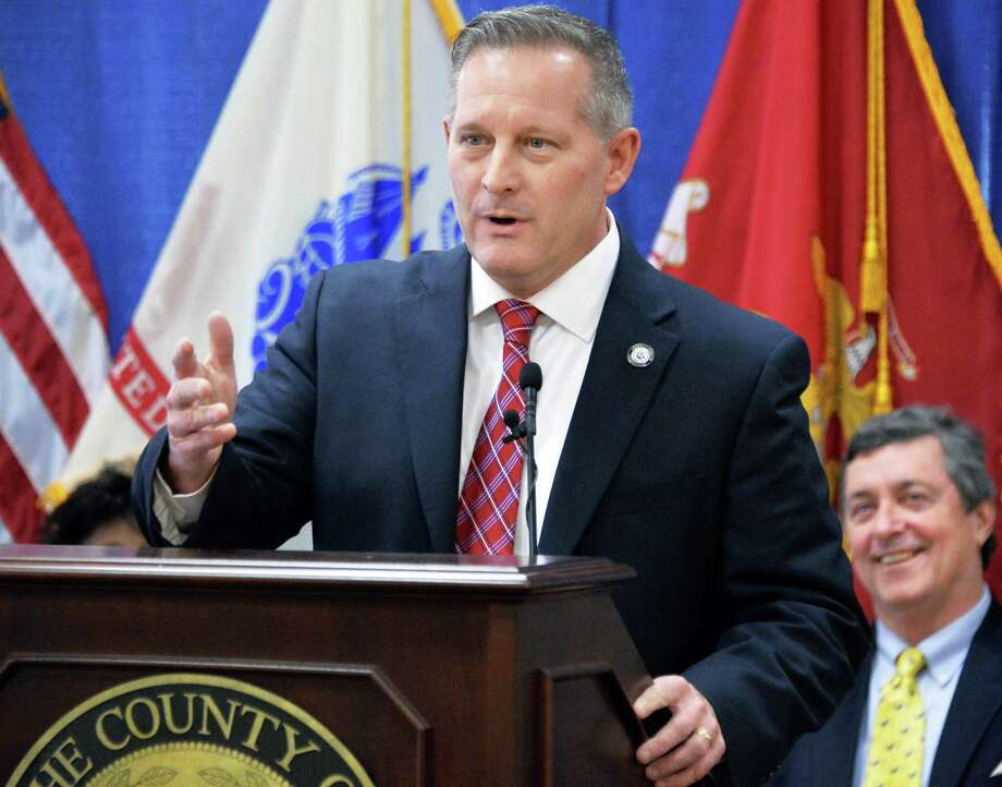 Chairman of the Albany County Legislature Sean Ward speaks during the announcement of a new regional immigrant assistance program Friday Jan. 22, 2016 in Albany, NY.  (John Carl D'Annibale / Times Union) Photo: John Carl D'Annibale / 10035109A