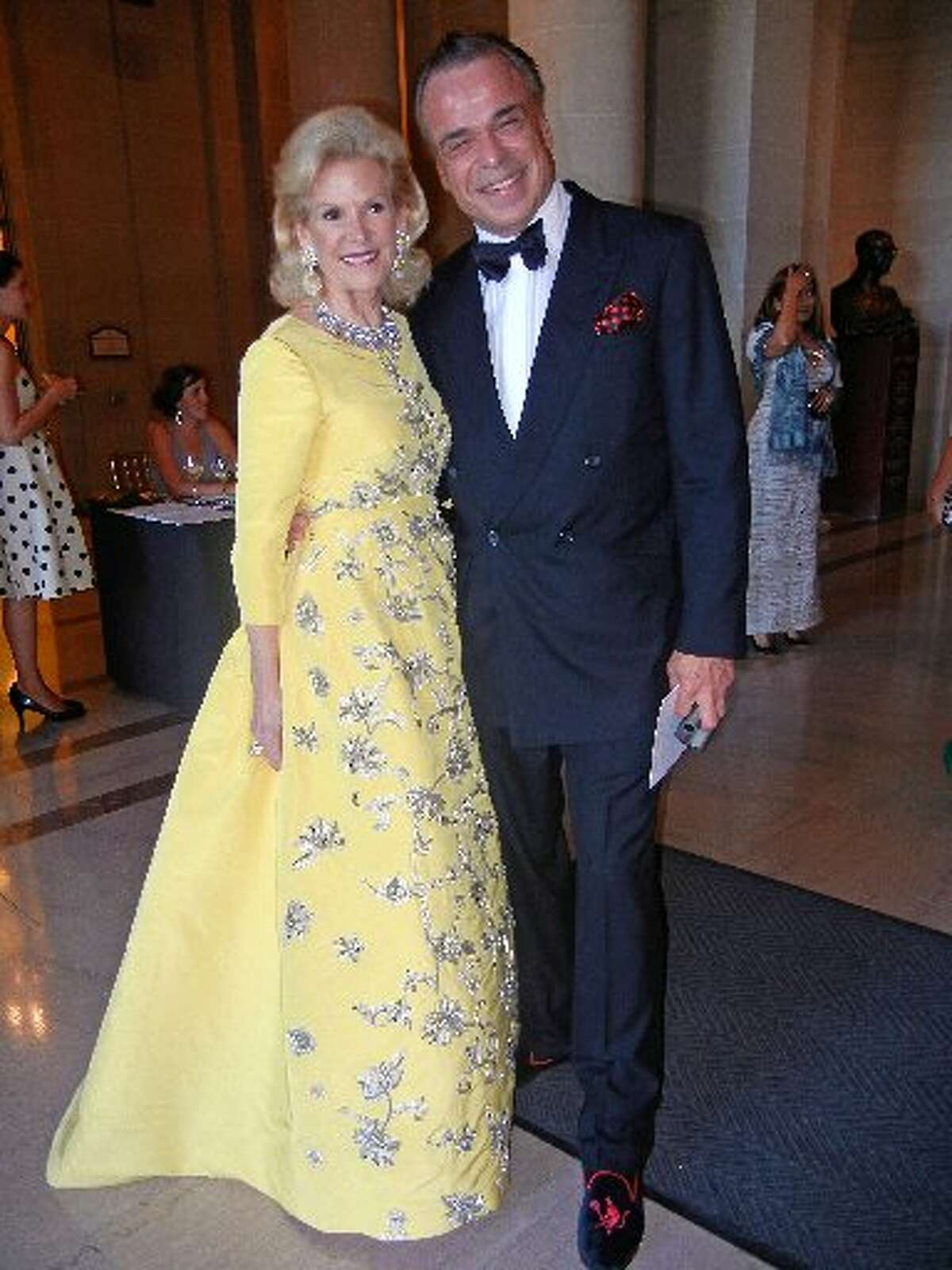 Dede Wilsey (in Oscar) and Boaz Mazor at Opera opening, 2013