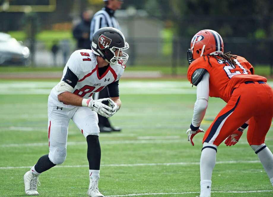 Greenwich High grad Vincent Ferraro emerged as St. Lawrence's leading receiver as a sophomore this past season. He had a team-high 58 receptions for 750 yards. Photo: Contributed Photo / Contributed Photo / Greenwich Time Contributed