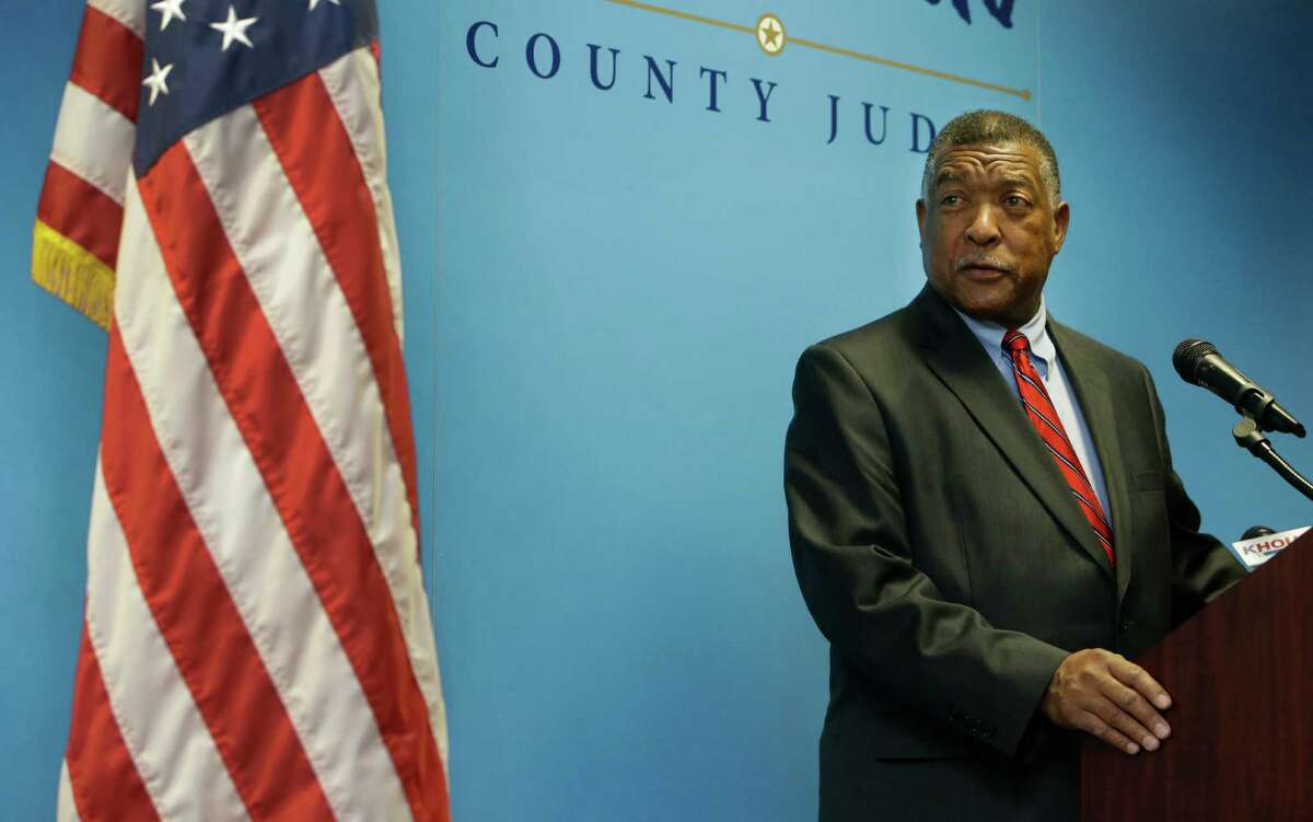 Gene Locke, a former city attorney and mayoral candidate, speaks to the media after being named by Harris County Judge Ed Emmett to complete El Franco Lee's term on Commissioners Court shown during a media conference at 1001 Preston St., Friday, Jan. 22, 2016 in Houston. ( Melissa Phillip / Houston Chronicle )