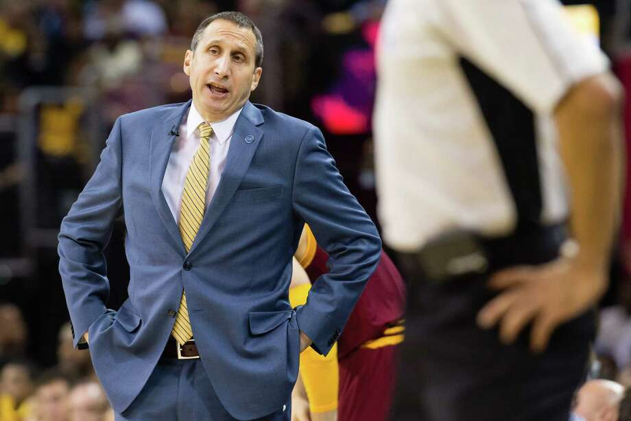 FILE - JANUARY 22: According to reports, head coach of the Cleveland Cavaliers, David Blatt has been fired on January 22, 2016. CLEVELAND, OH - OCTOBER 30: Head coach David Blatt of the Cleveland Cavaliers argues with the officials during the first half against the Miami Heat at Quicken Loans Arena on October 30, 2015 in Cleveland, Ohio. NOTE TO USER: User expressly acknowledges and agrees that, by downloading and or using this photograph, User is consenting to the terms and conditions of the Getty Images License Agreement. (Photo by Jason Miller/Getty Images) ORG XMIT: 575726625 Photo: Jason Miller / 2015 Getty Images