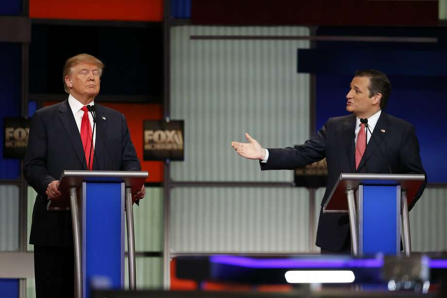 """A week before the Iowa caucuses, Ted Cruz's presidential campaign is going full bore at the GOP poll leader, running a new ad statewide attacking the billionaire businessman's """"New York values.""""Continue clicking to see some of the things Trump has said about political issues during his campaign. Photo: Eric Thayer, New York Times"""