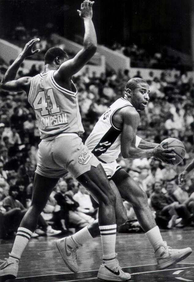 Alfredrick Hughes was with the Spurs in the 1985 season. Photo: Express-News File Photo