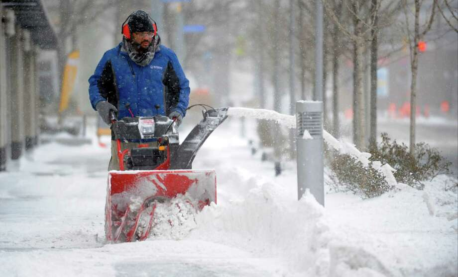 Click through the slideshow to see slow blower safety tips, according to theOutdoor Power Equipment Institute (OPEI). Photo: Matthew Brown / Hearst Connecticut Media / Stamford Advocate