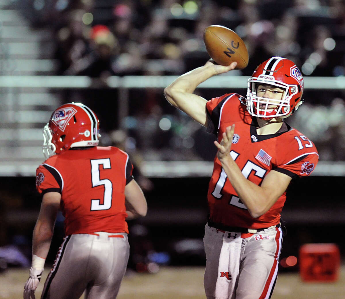 Michael Collins | New Canaan | Quarterback Senior completed 206 of 328 passes for 3,414 yards and a state-record 54 touchdowns to lead the Rams to an 11-1 record and the Class L championship ... Had three-year totals of 6,320 passing yards and 89 touchdowns in 31 games ... Passed for 180 yards and one touchdown in the Class L title game ... CHSCA All-State first team, All-FCIAC first team offense, Walter Camp All-Connecticut offense ... USA Today Connecticut second-team selection.