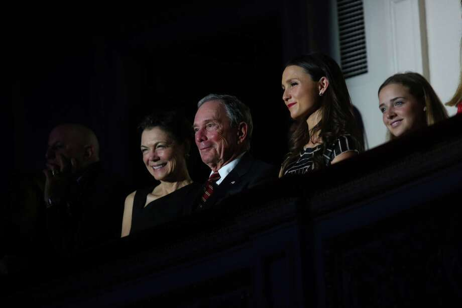 FILE N Michael Bloomberg, the former mayor of New York, attends a charity event with family at Carnegie Hall in New York, Dec. 2, 2015. The state of play in the 2016 presidential election has prompted Bloomberg to consider a third-party run, and the media mogul has told allies he could spend at least $1 billion of his fortune on it. From left: partner Diana Taylor, Bloomberg and his daughter Georgina Bloomberg. (Damon Winter/The New York Times) ORG XMIT: XNYT35 Photo: DAMON WINTER / NYTNS