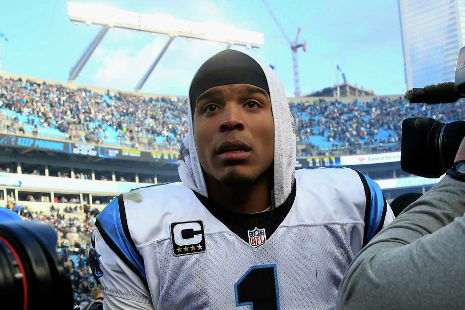 CHARLOTTE, NC - JANUARY 17:  Cam Newton #1 of the Carolina Panthers reacts after their 31-24 victory over the Seattle Seahawks at the NFC Divisional Playoff Game at Bank of America Stadium on January 17, 2016 in Charlotte, North Carolina.  (Photo by Jamie Squire/Getty Images) ORG XMIT: 599402547 Photo: Jamie Squire / 2016 Getty Images