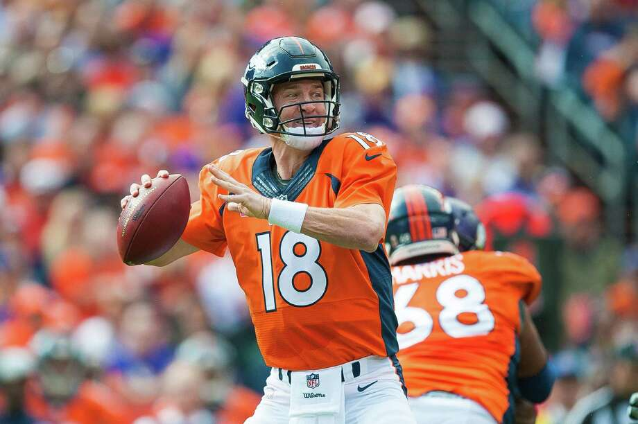 DENVER, CO - OCTOBER 4:  Quarterback Peyton Manning #18 of the Denver Broncos drops back to pass against the Minnesota Vikings in the first quarter of a game at Sports Authority Field at Mile High on October 4, 2015 in Denver, Colorado.  (Photo by Dustin Bradford/Getty Images) ORG XMIT: 570150285 Photo: Dustin Bradford / 2015 Getty Images