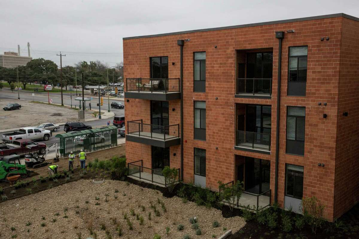 The Agave, a new 350-unit apartment project, is located in downtown San Antonio, Texas on January 20, 2016.