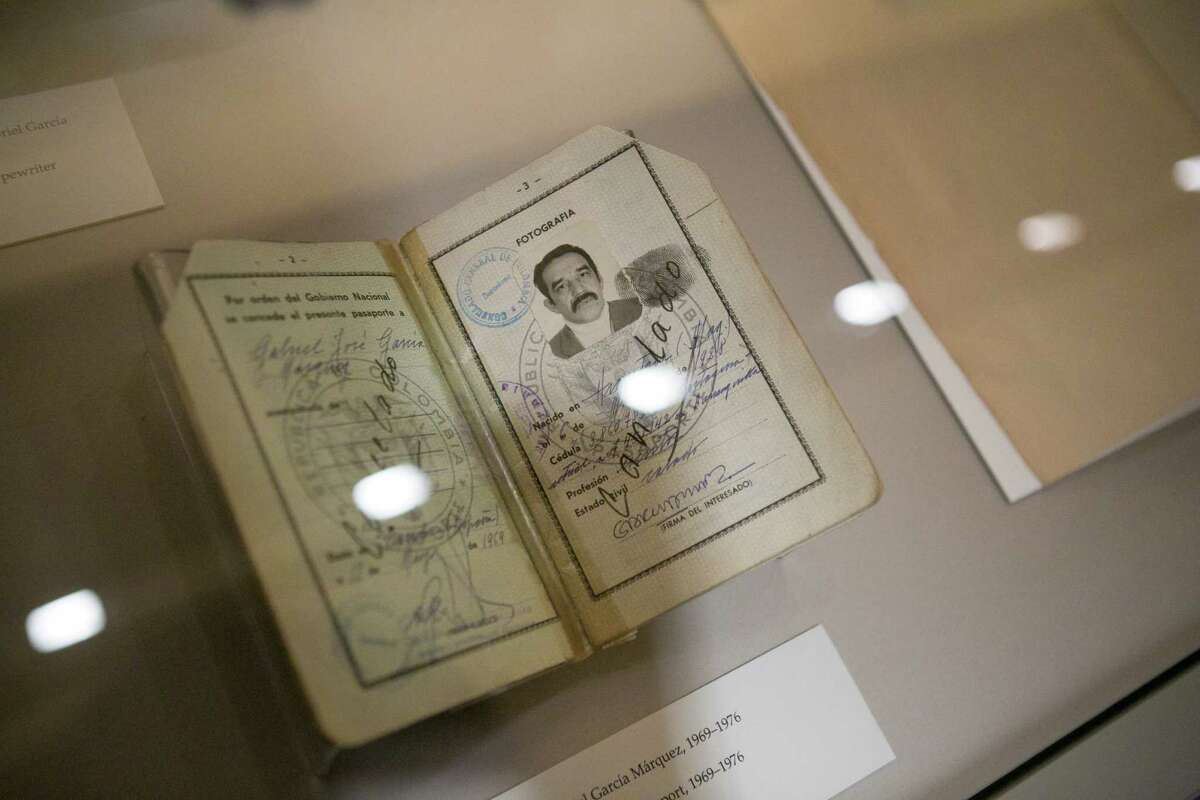 The passport of Gabriel García Márquez, along with selected items from his archive, are now on display at the Harry Ransom Center at the University of Texas at Austin.