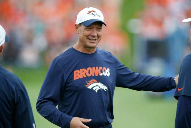 Denver Broncos offensive coordinator Rick Dennison at the team's NFL football training camp Monday, Aug. 3, 2015, in Englewood, Colo. (AP Photo/David Zalubowski) Photo: David Zalubowski, Stf / AP