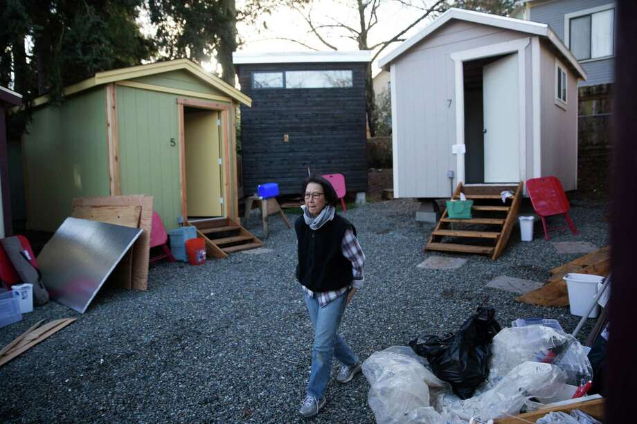 tiny house seattle. Volunteer B.T. Eberhart Walks Through Central District\u0027s New Tiny House Village On Friday, Jan. Seattle T